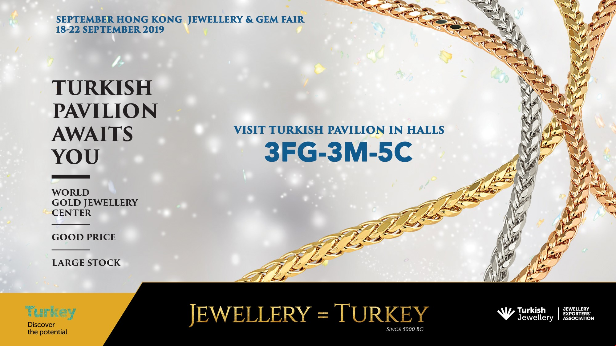 Turkish Pavilion Awaits You in September Hong Kong Jewellery and Gem Fair